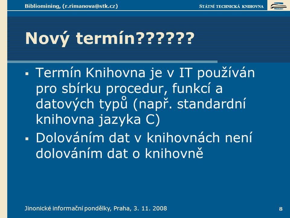 Bibliomining v češtině 1.