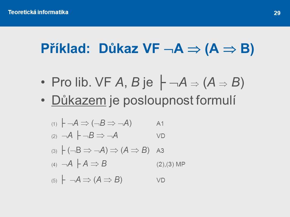 Příklad: Důkaz VF A  (A  B)