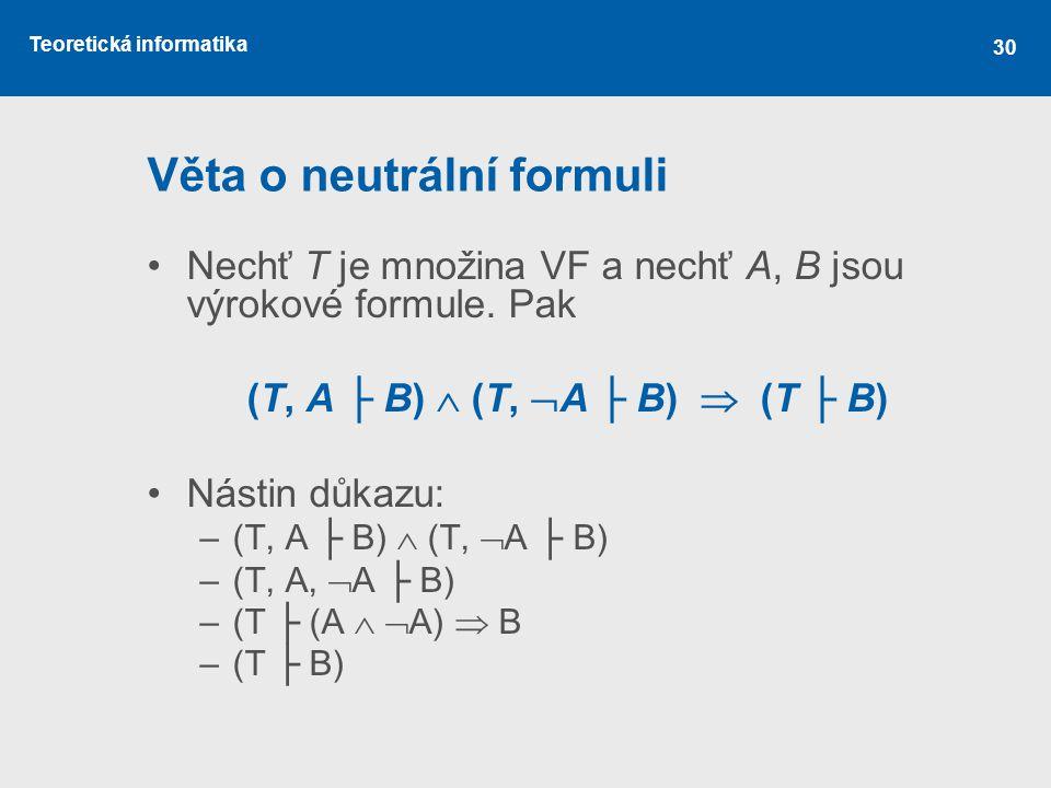 Věta o neutrální formuli