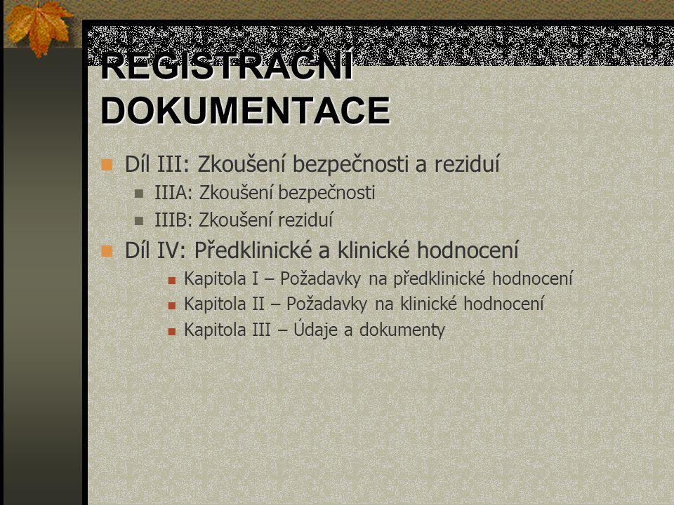 REGISTRAČNÍ DOKUMENTACE