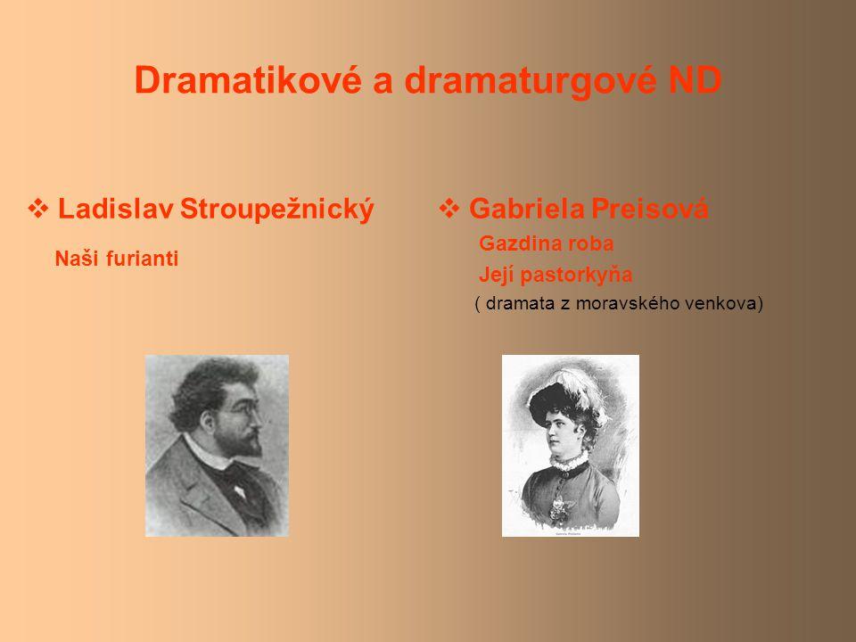 Dramatikové a dramaturgové ND