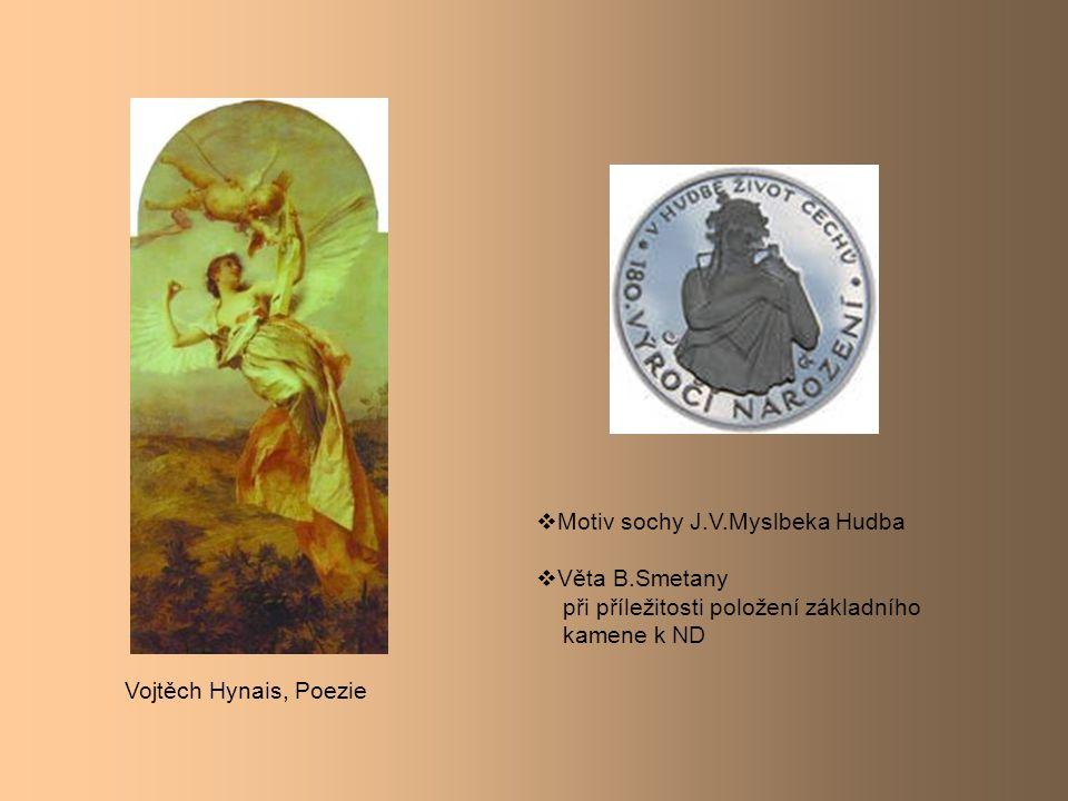 Motiv sochy J.V.Myslbeka Hudba