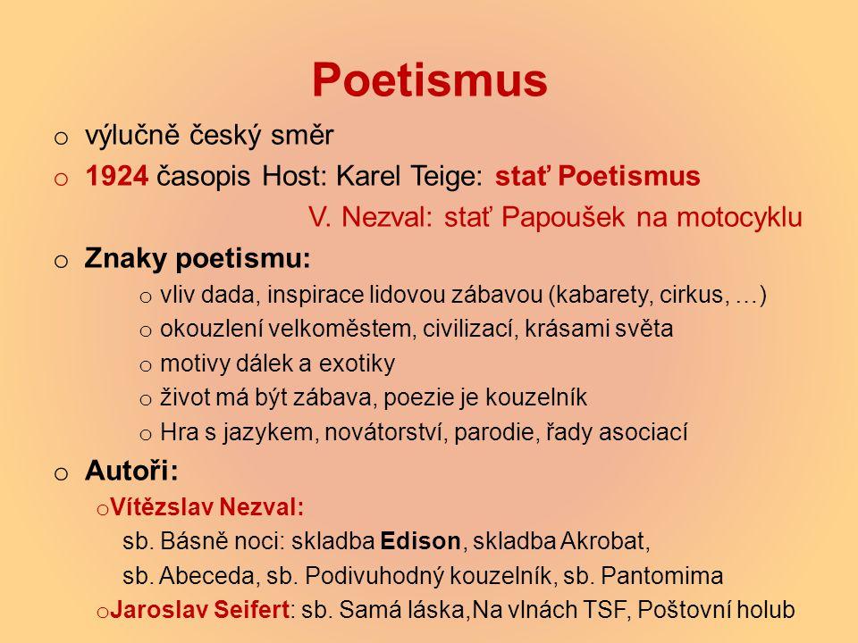 Poetismus výlučně český směr