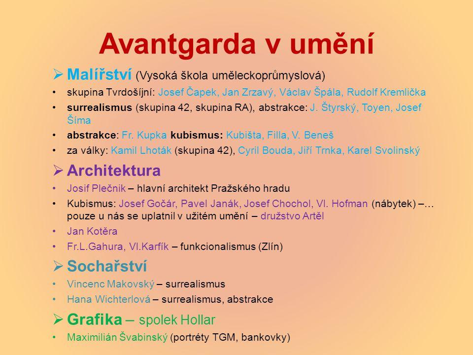Avantgarda v umění Malířství (Vysoká škola uměleckoprůmyslová)