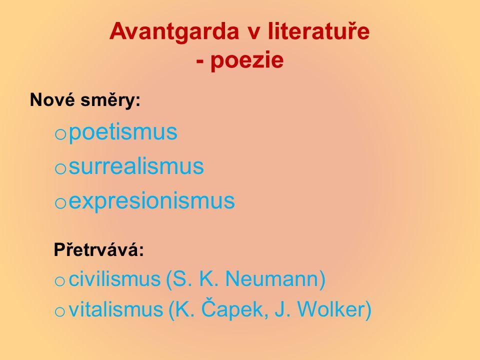 Avantgarda v literatuře - poezie