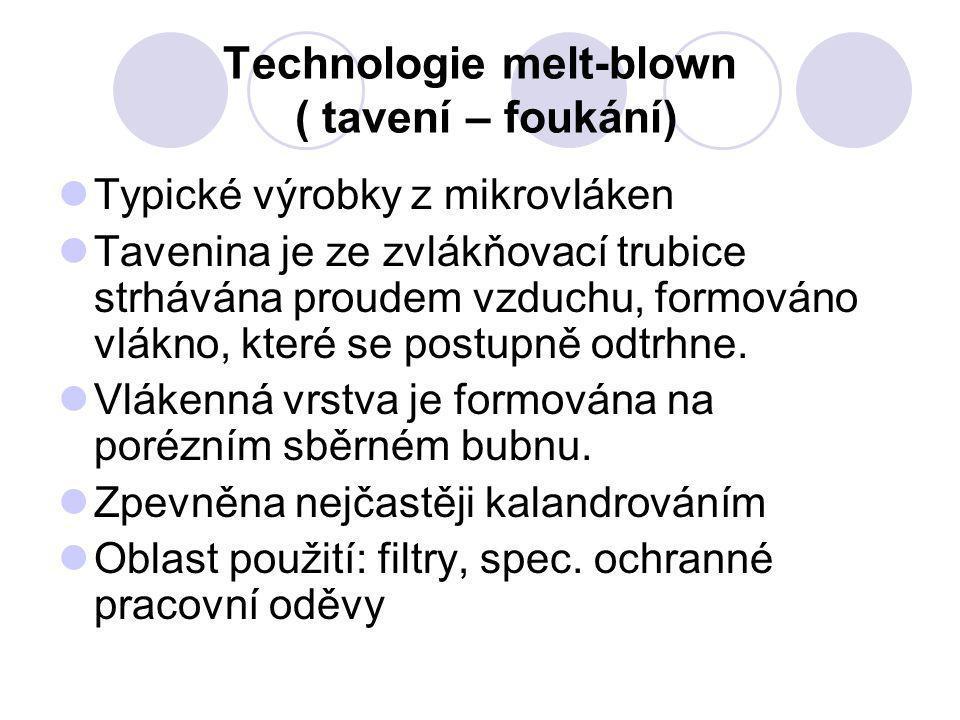 Technologie melt-blown ( tavení – foukání)