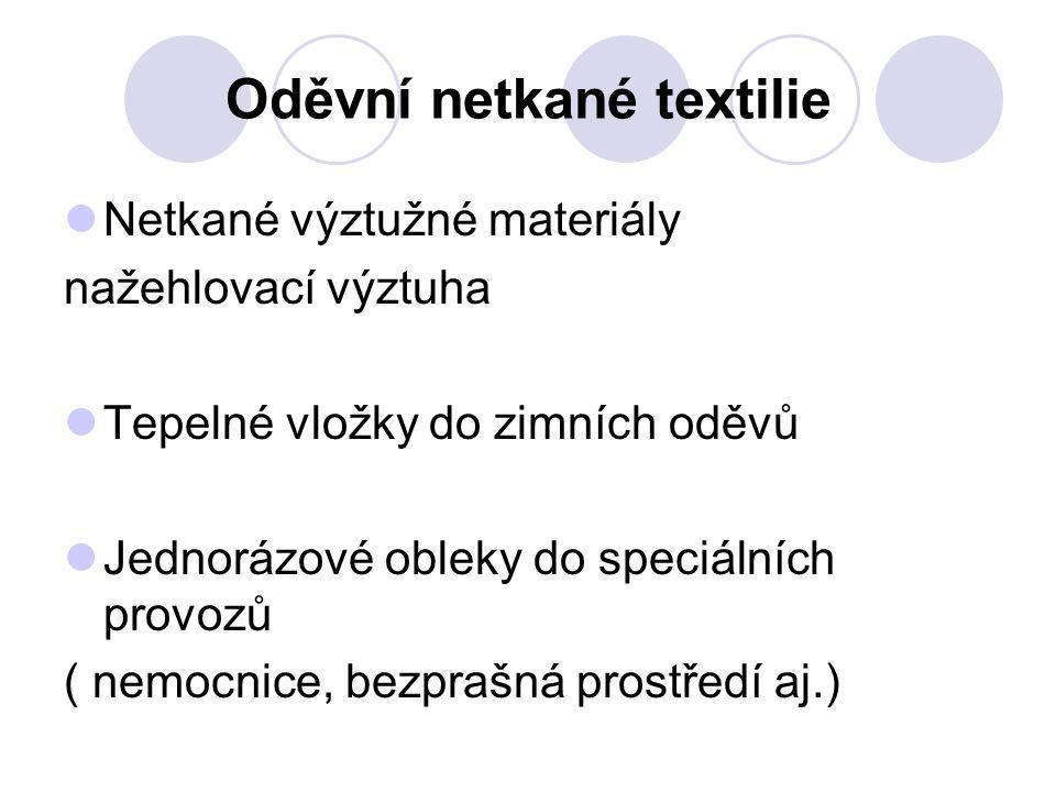 Oděvní netkané textilie