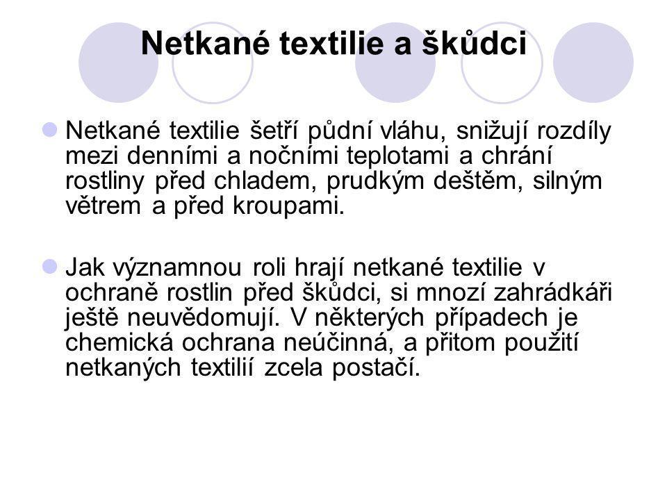 Netkané textilie a škůdci