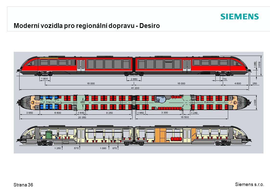 Moderní vozidla pro regionální dopravu - Desiro