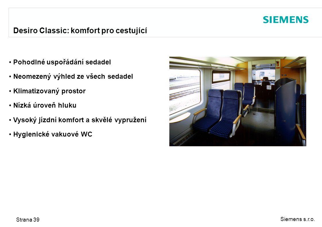 Desiro Classic: komfort pro cestující