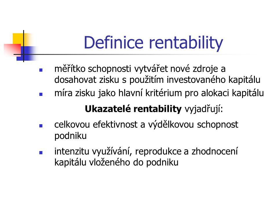 Ukazatelé rentability vyjadřují: