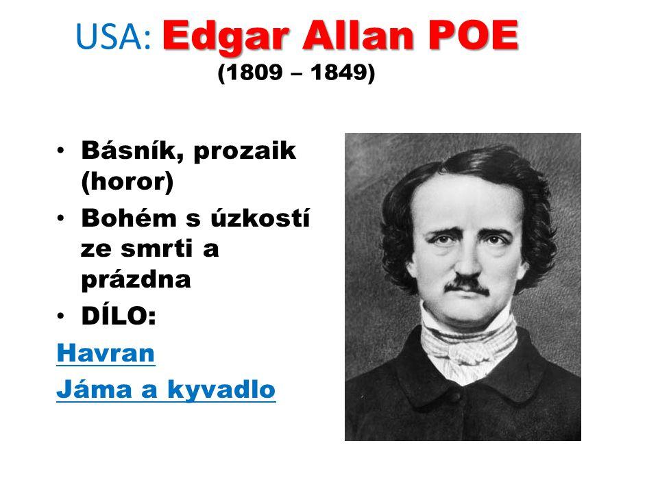 USA: Edgar Allan POE (1809 – 1849)