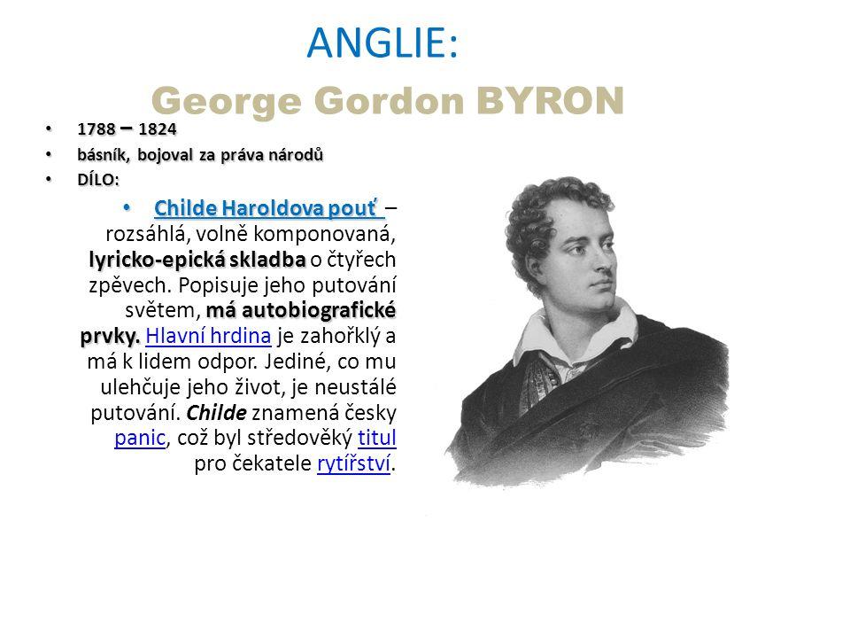 ANGLIE: George Gordon BYRON