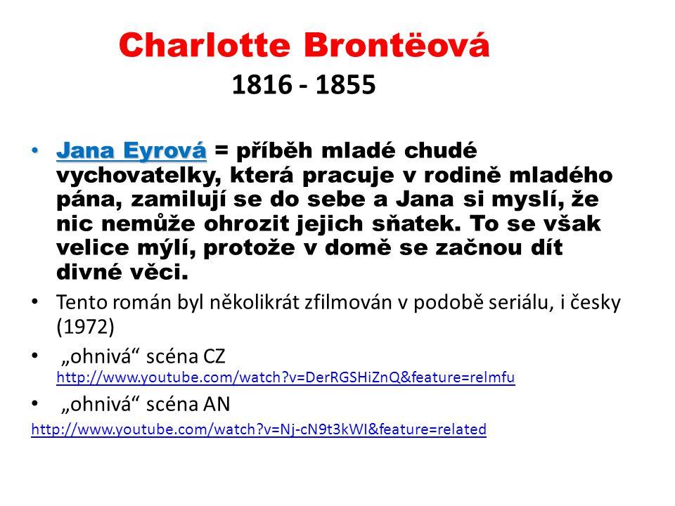 Charlotte Brontëová 1816 - 1855