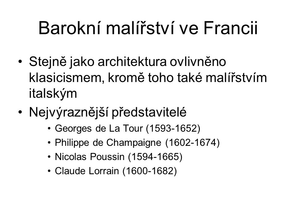 Barokní malířství ve Francii