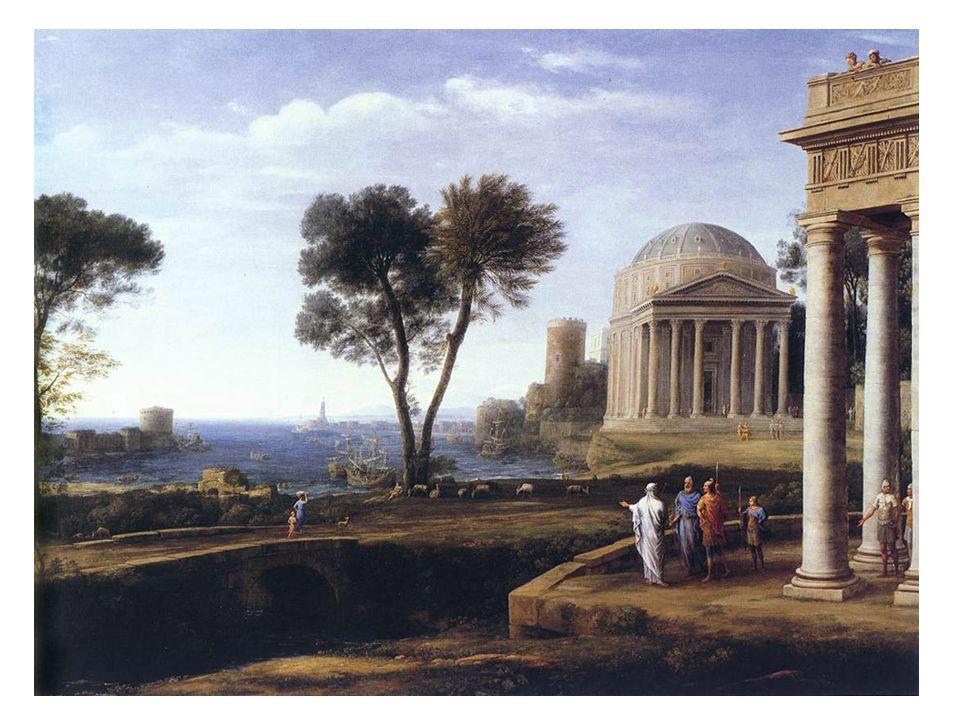 Aeneas na Delosu; krajina