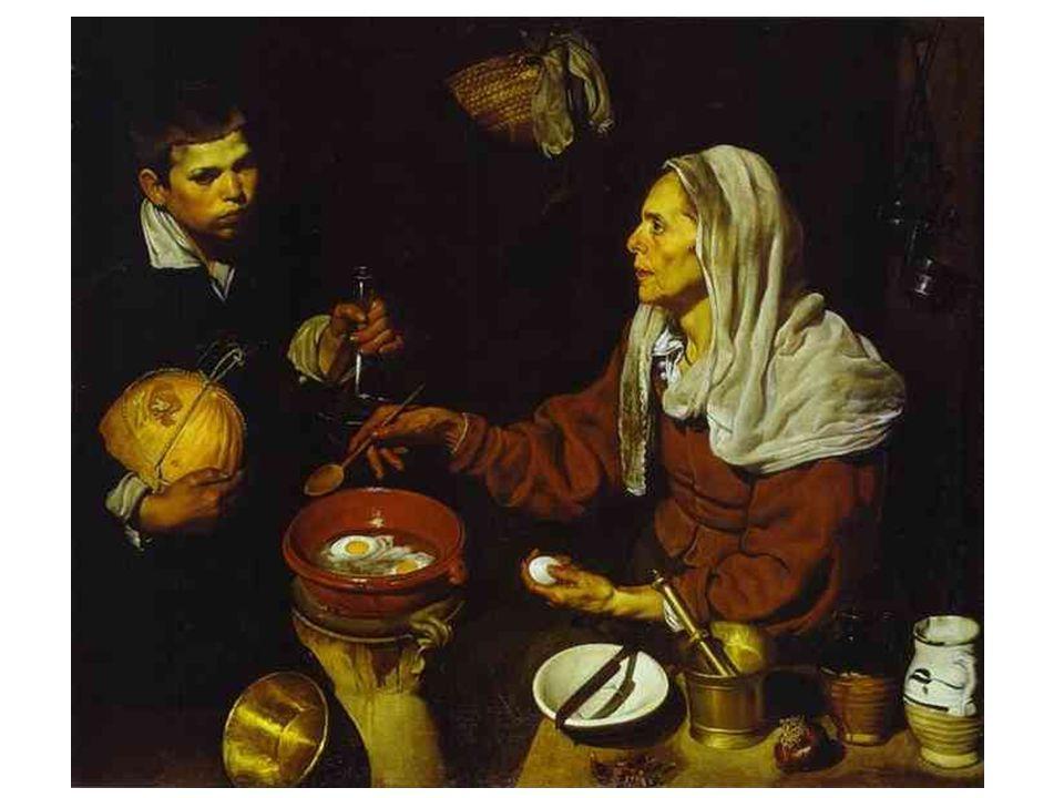 Stará kuchařka (Žena smažící vejce); 1618