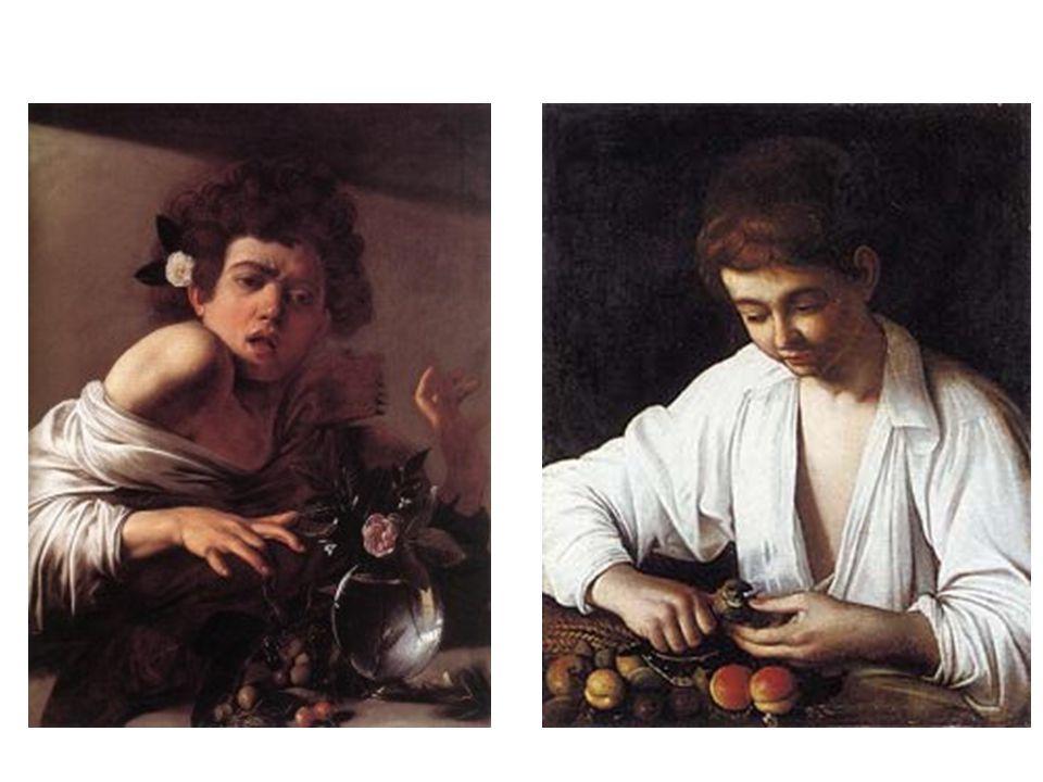 Chlapec, kterého kousla veverka; Chlapec loupající ovoce