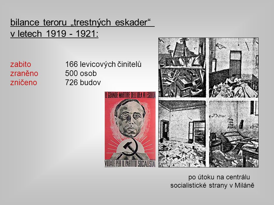 "bilance teroru ""trestných eskader v letech 1919 - 1921:"