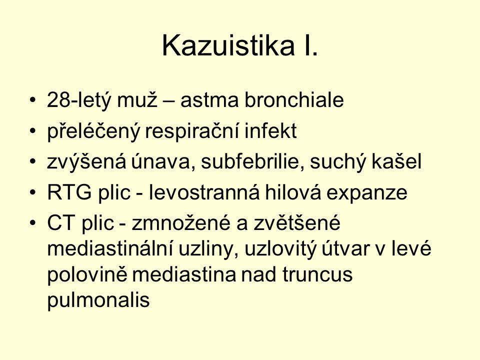 Kazuistika I. 28-letý muž – astma bronchiale