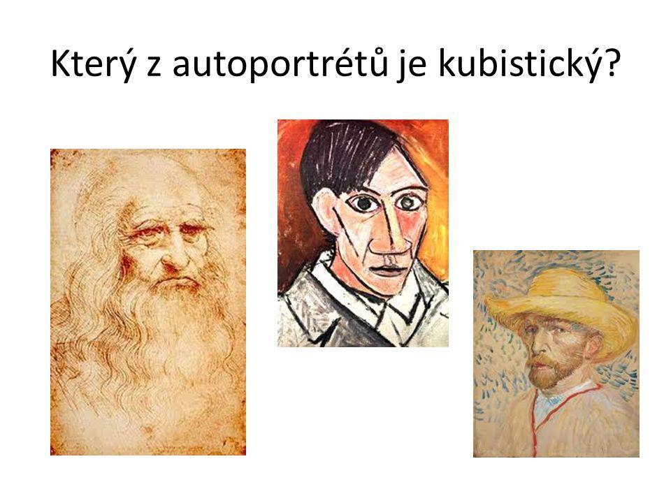 Který z autoportrétů je kubistický