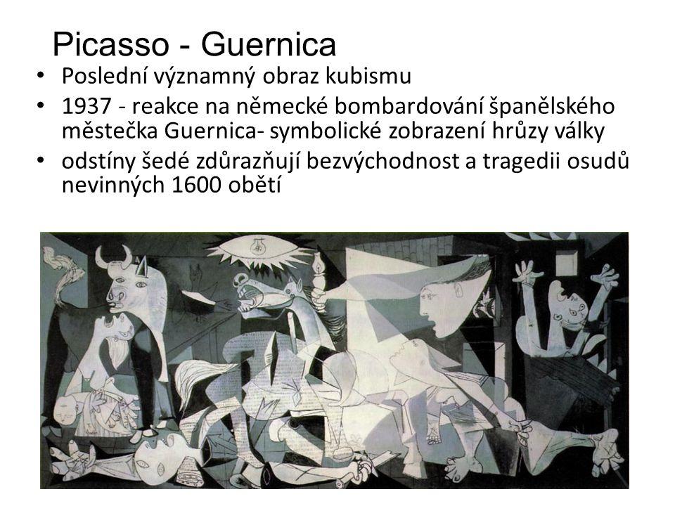 Picasso - Guernica Poslední významný obraz kubismu