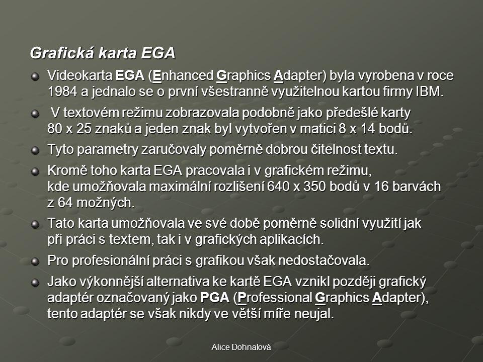 Grafické karty Grafická karta EGA.