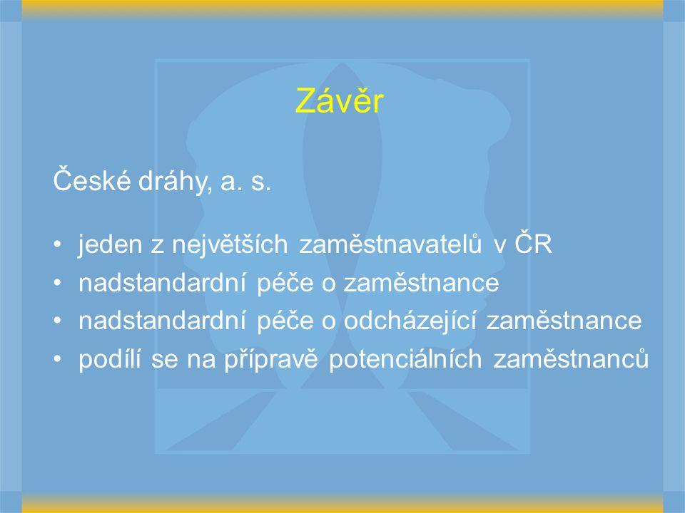 Závěr České dráhy, a. s. jeden z největších zaměstnavatelů v ČR