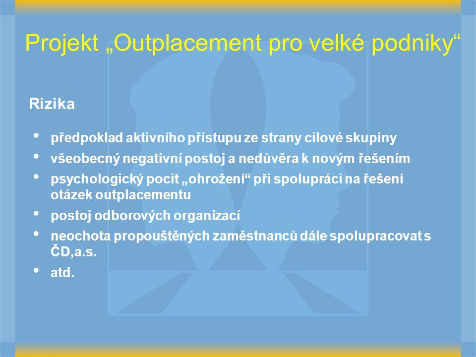 """Projekt """"Outplacement pro velké podniky"""