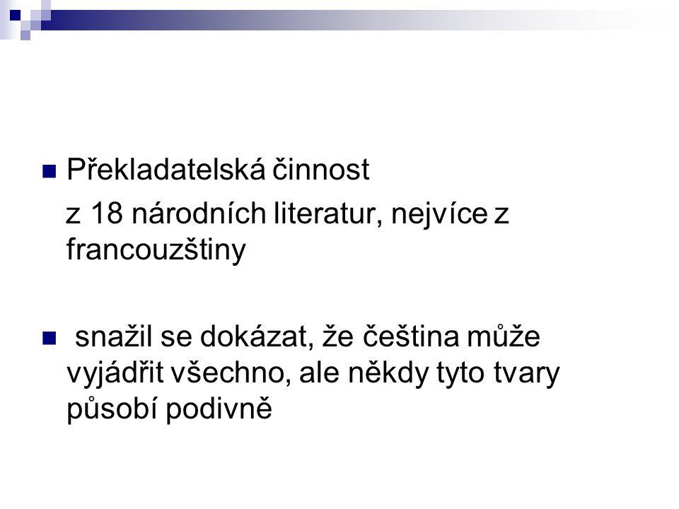 Překladatelská činnost
