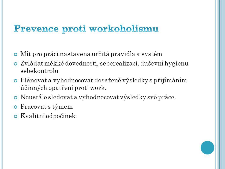 Prevence proti workoholismu