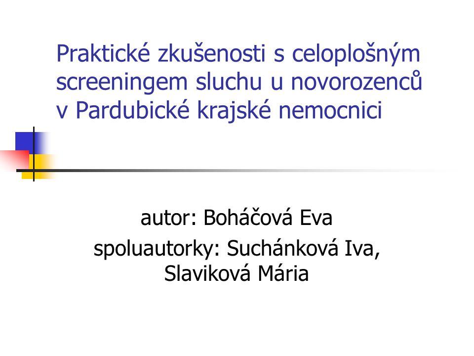 autor: Boháčová Eva spoluautorky: Suchánková Iva, Slaviková Mária
