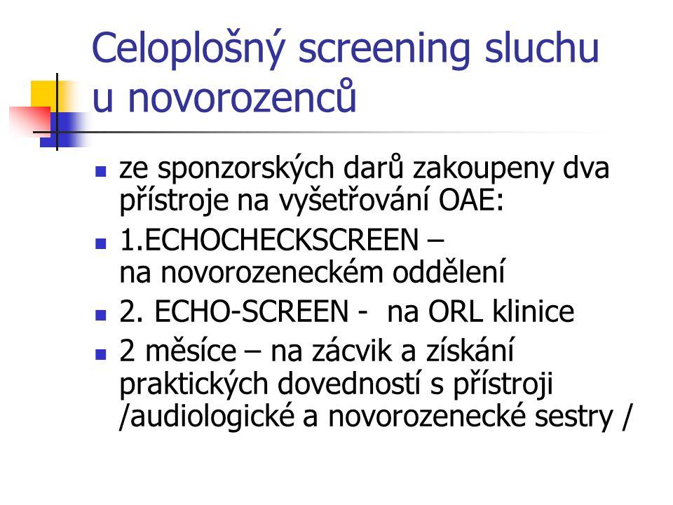 Celoplošný screening sluchu u novorozenců