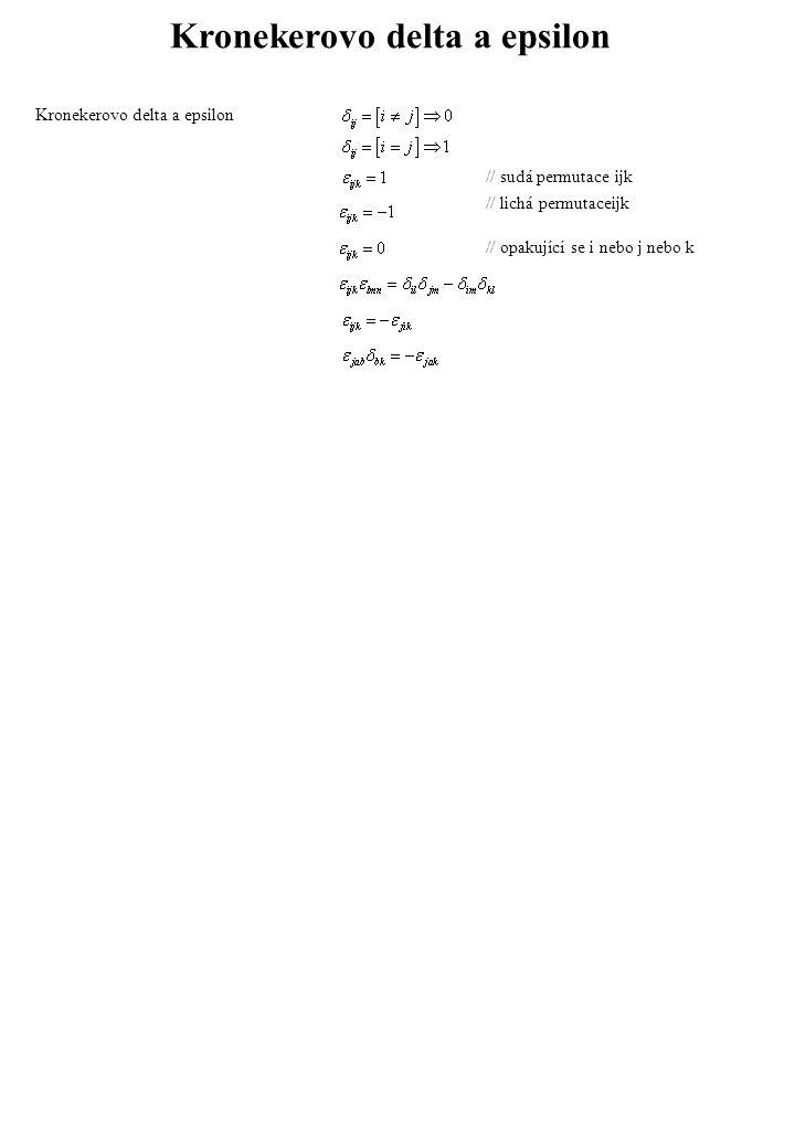 Kronekerovo delta a epsilon