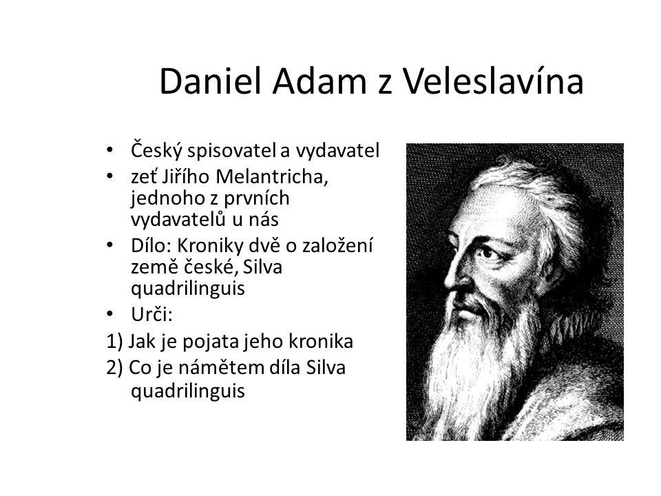 Daniel Adam z Veleslavína