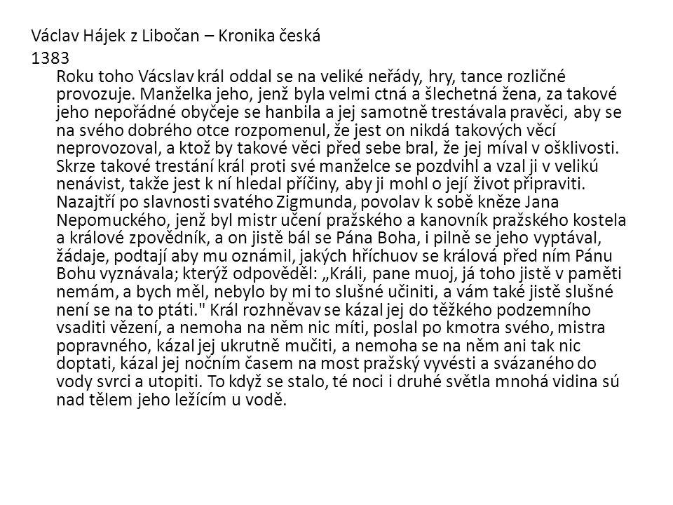 Václav Hájek z Libočan – Kronika česká