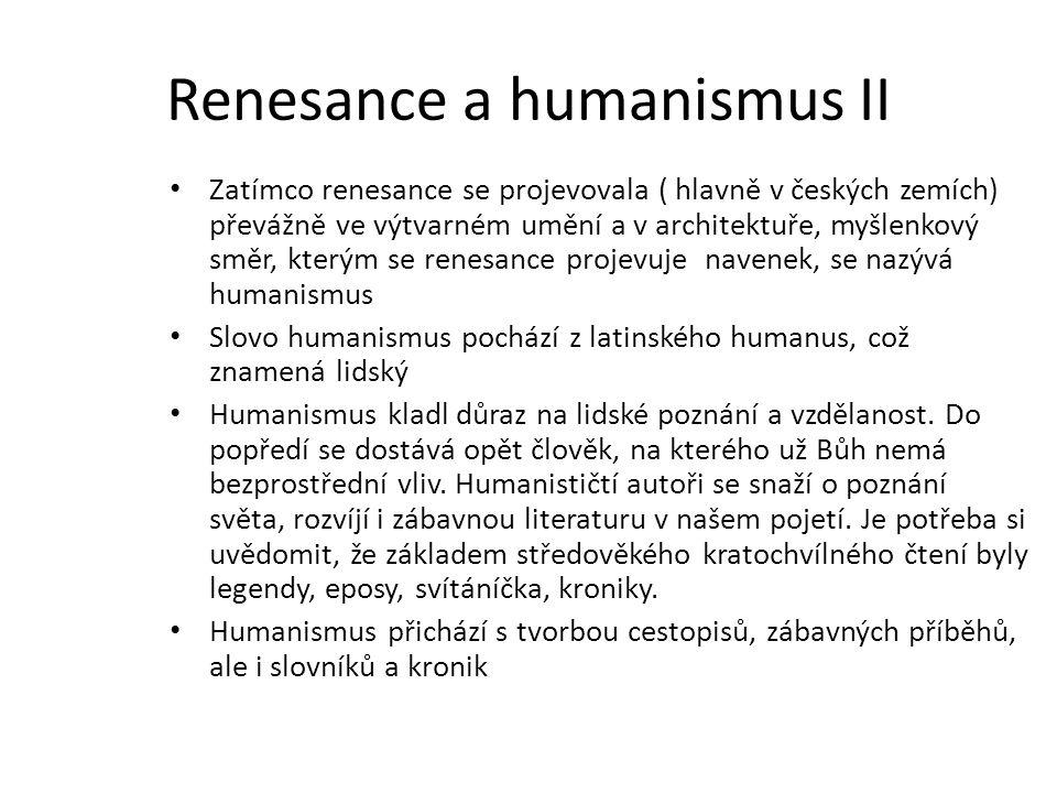 Renesance a humanismus II