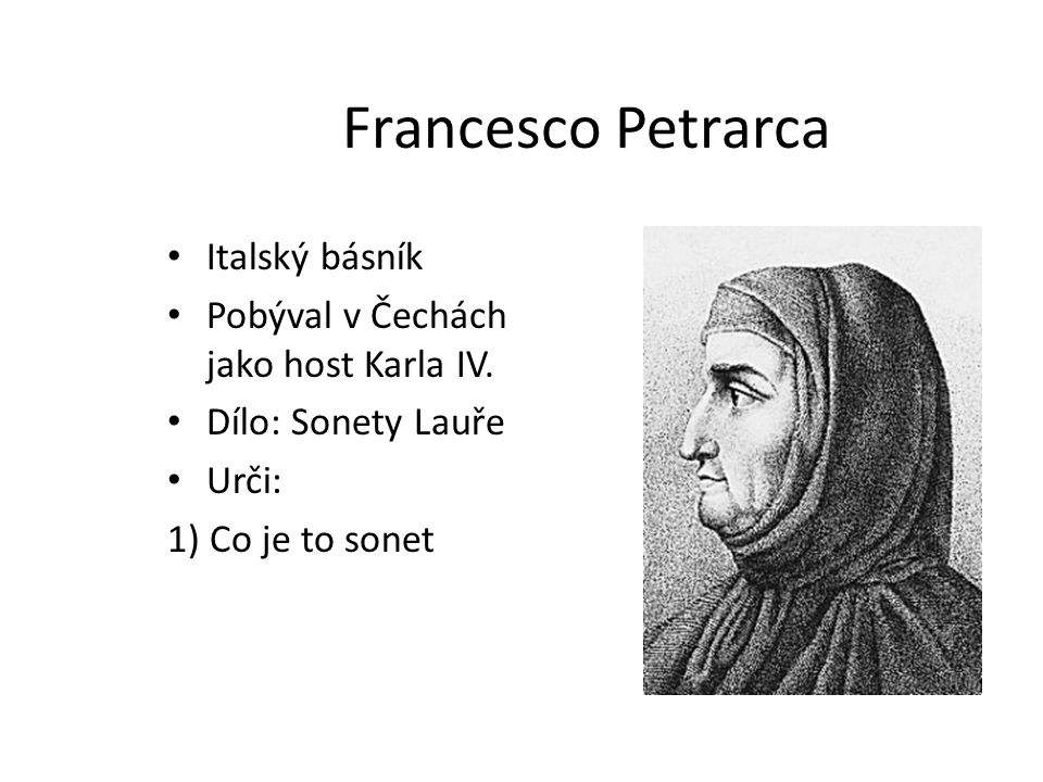 Francesco Petrarca Italský básník
