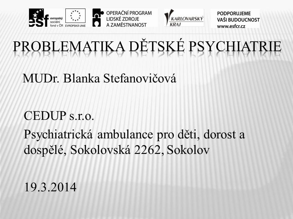 Problematika dětské psychiatrie