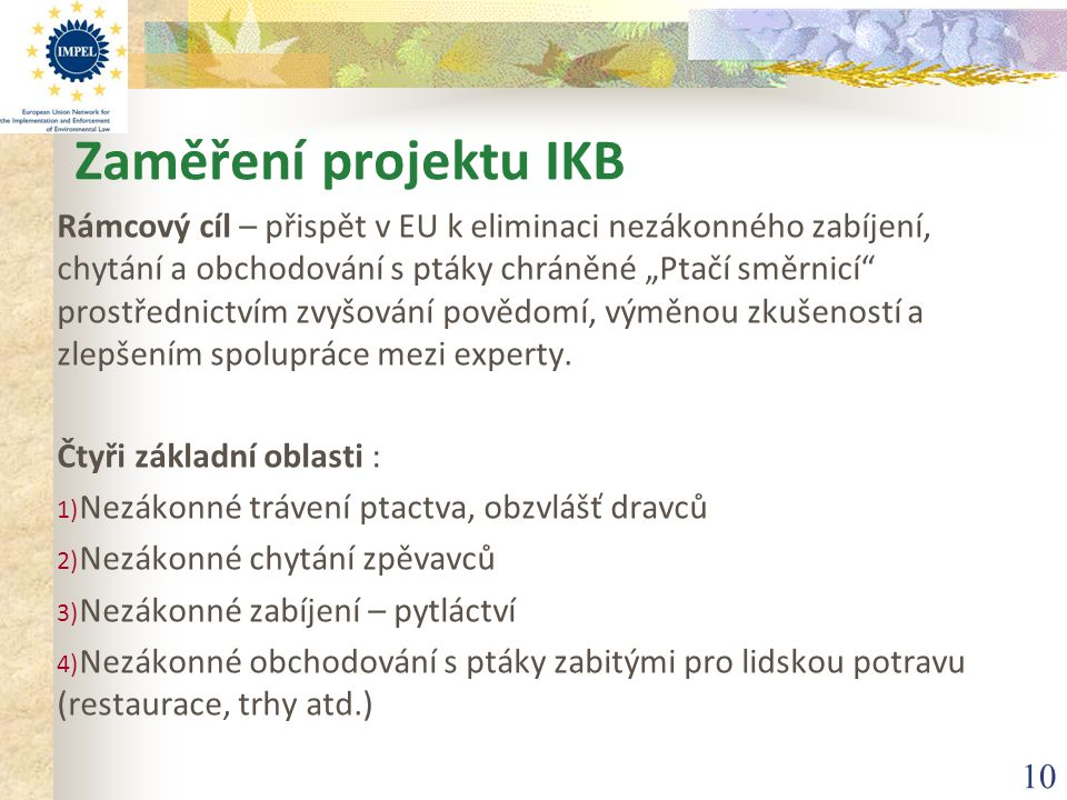 Zaměření projektu IKB