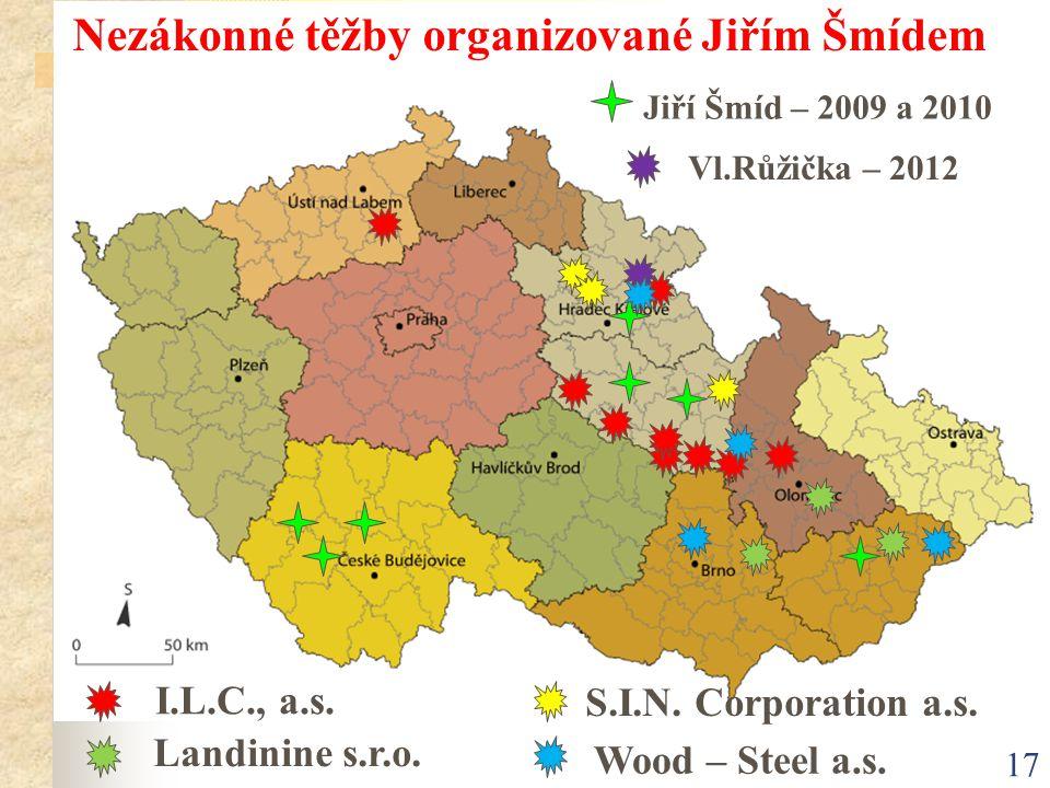 Nezákonné těžby organizované Jiřím Šmídem
