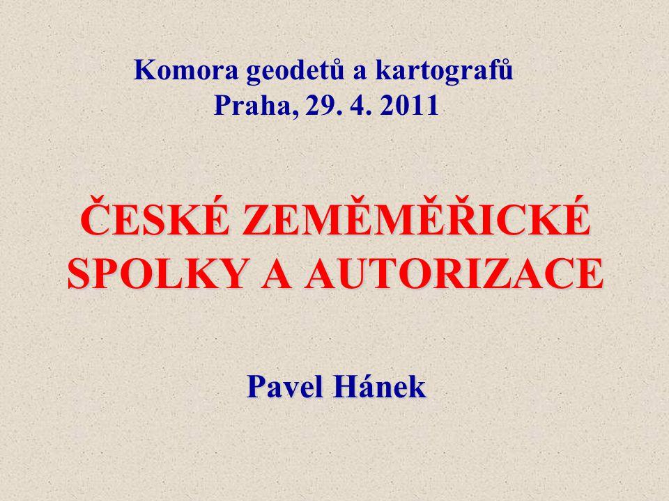 Komora geodetů a kartografů Praha, 29. 4. 2011