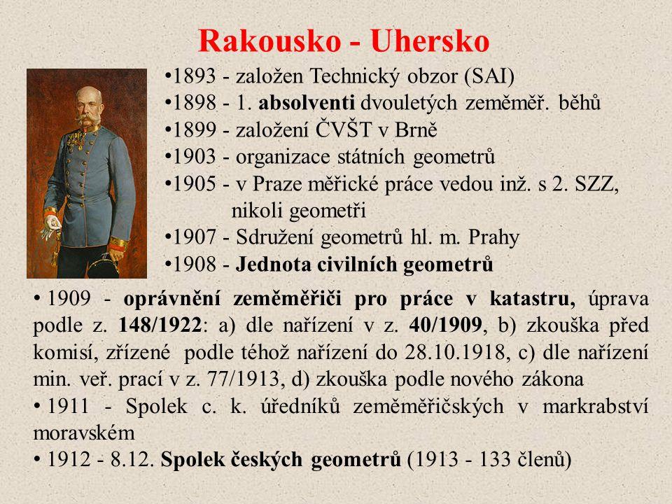 Rakousko - Uhersko 1893 - založen Technický obzor (SAI)