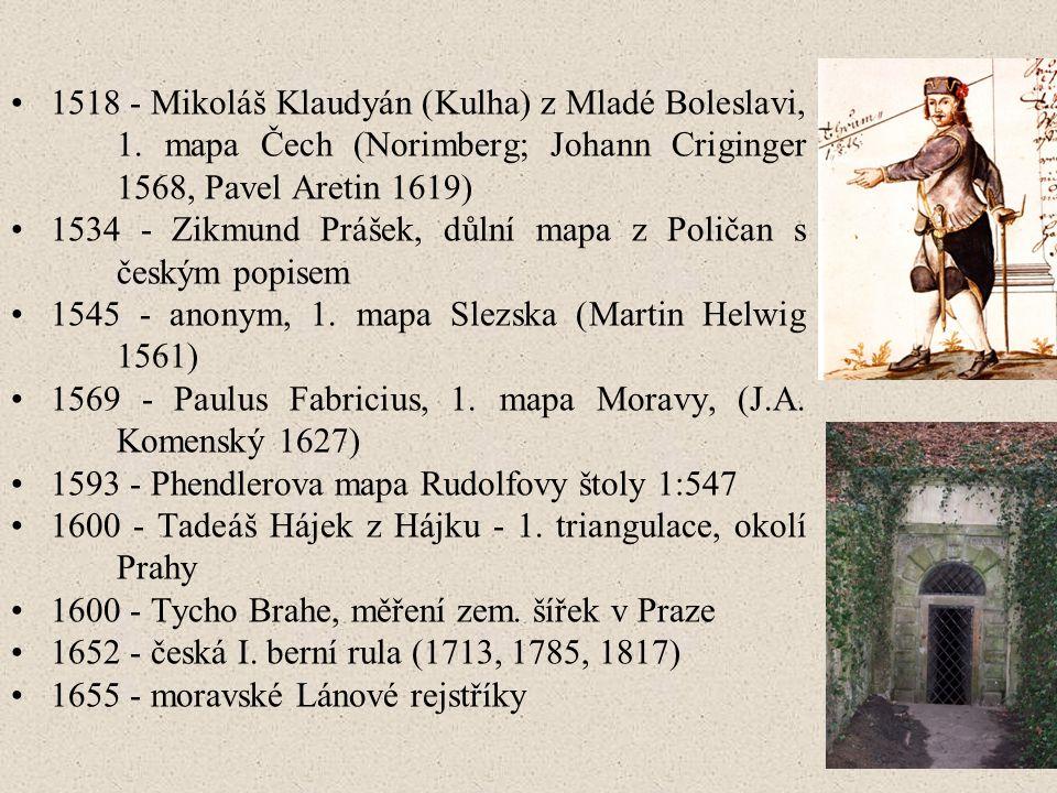 1518 - Mikoláš Klaudyán (Kulha) z Mladé Boleslavi,. 1