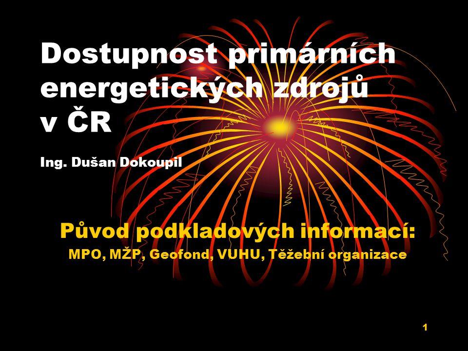 Dostupnost primárních energetických zdrojů v ČR Ing. Dušan Dokoupil