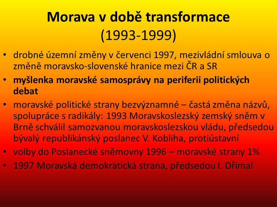 Morava v době transformace (1993-1999)