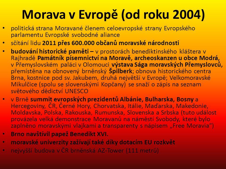 Morava v Evropě (od roku 2004)