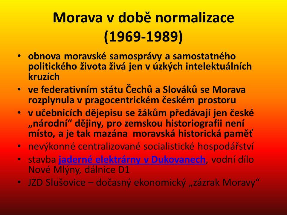 Morava v době normalizace (1969-1989)