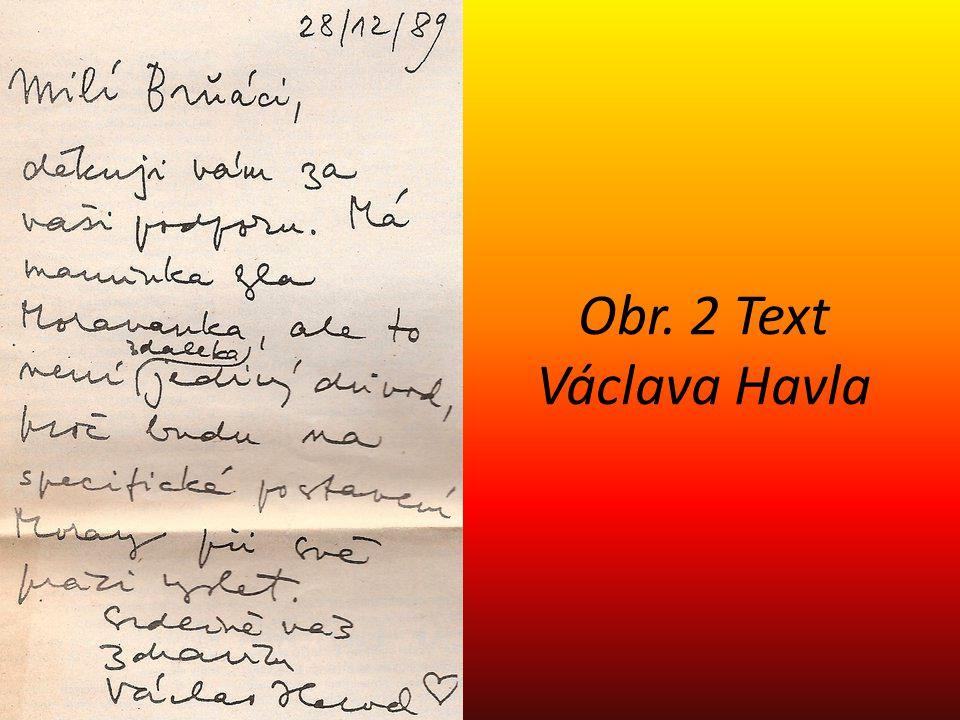 Obr. 2 Text Václava Havla