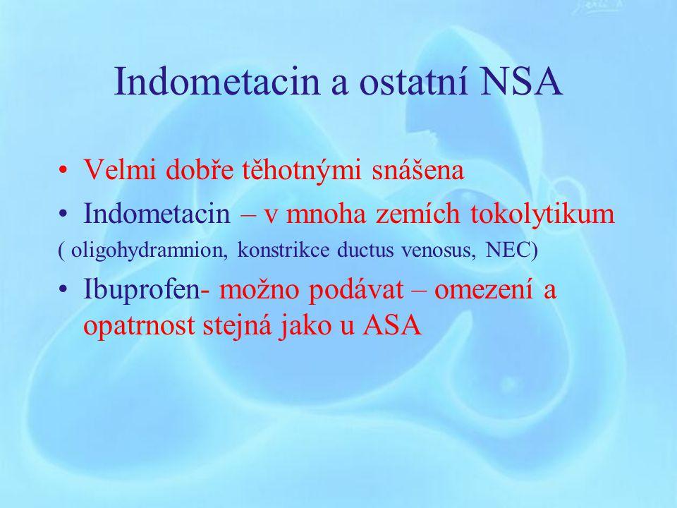 Indometacin a ostatní NSA
